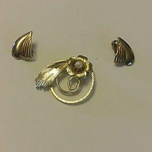 Brooch with earrings